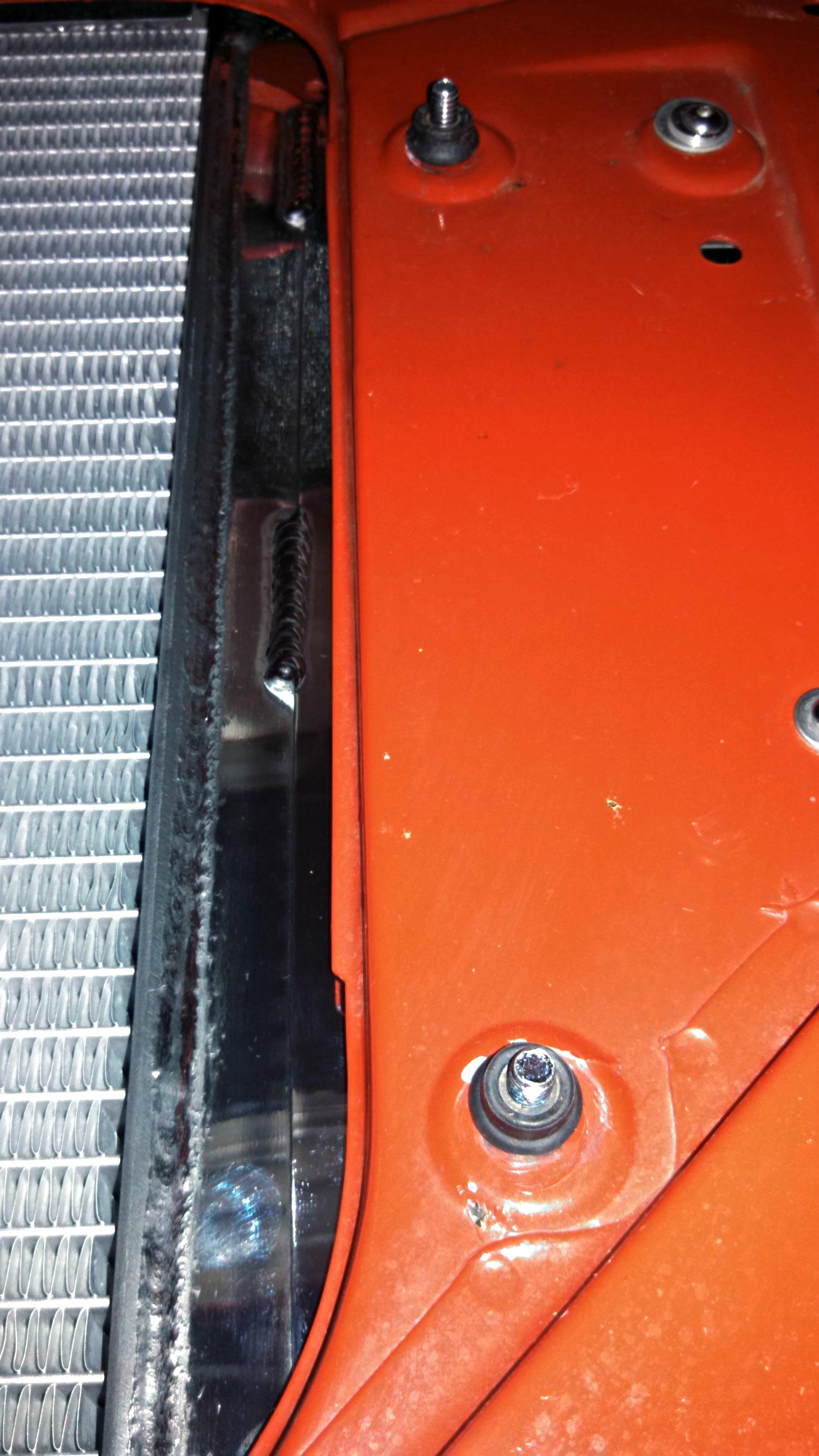 67 Camaro radiator isolator mount installation complete
