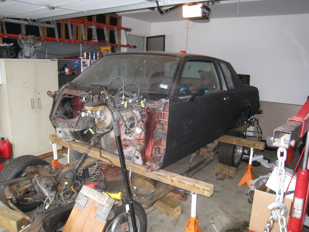 All Jacked Up Remove The Regal Frame Hot Rod Regal