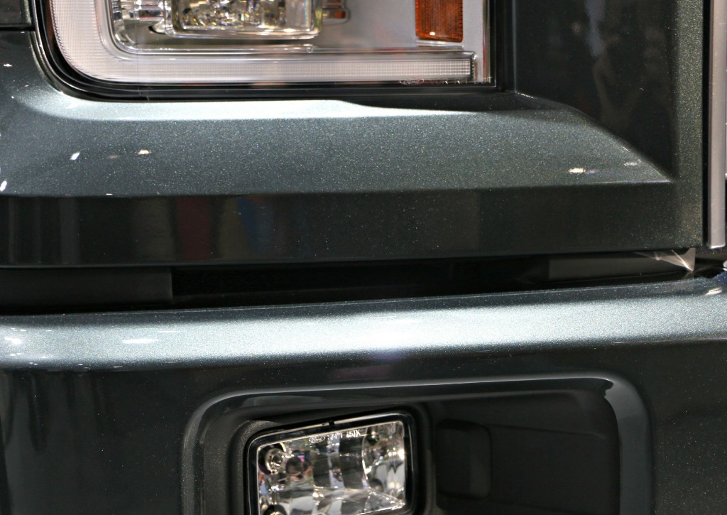 The F-150 Trucks also use the Air Curtain technology. The inlet ducts are directly above the fog lights.