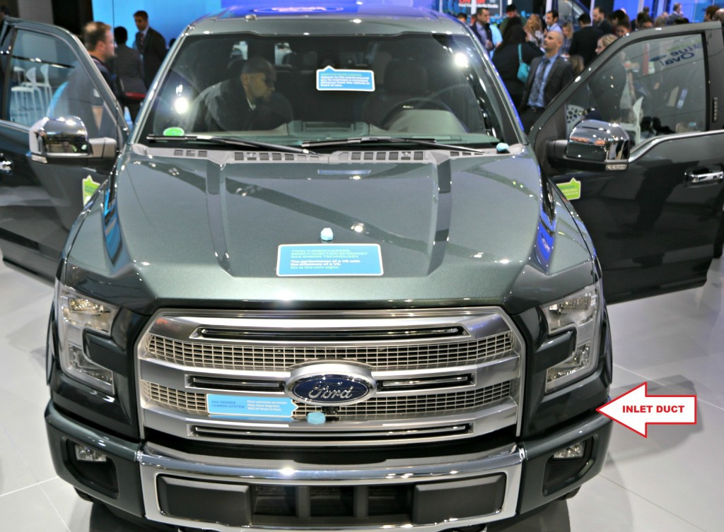 The air curtain ducts are barely visible with the newly redesigned F-150 front fascia.