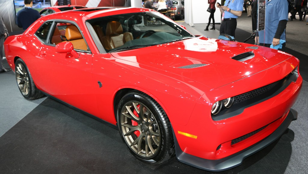 The HellCat Challenger uses a splitter and extension, as well as heat extractors. Pretty cool car