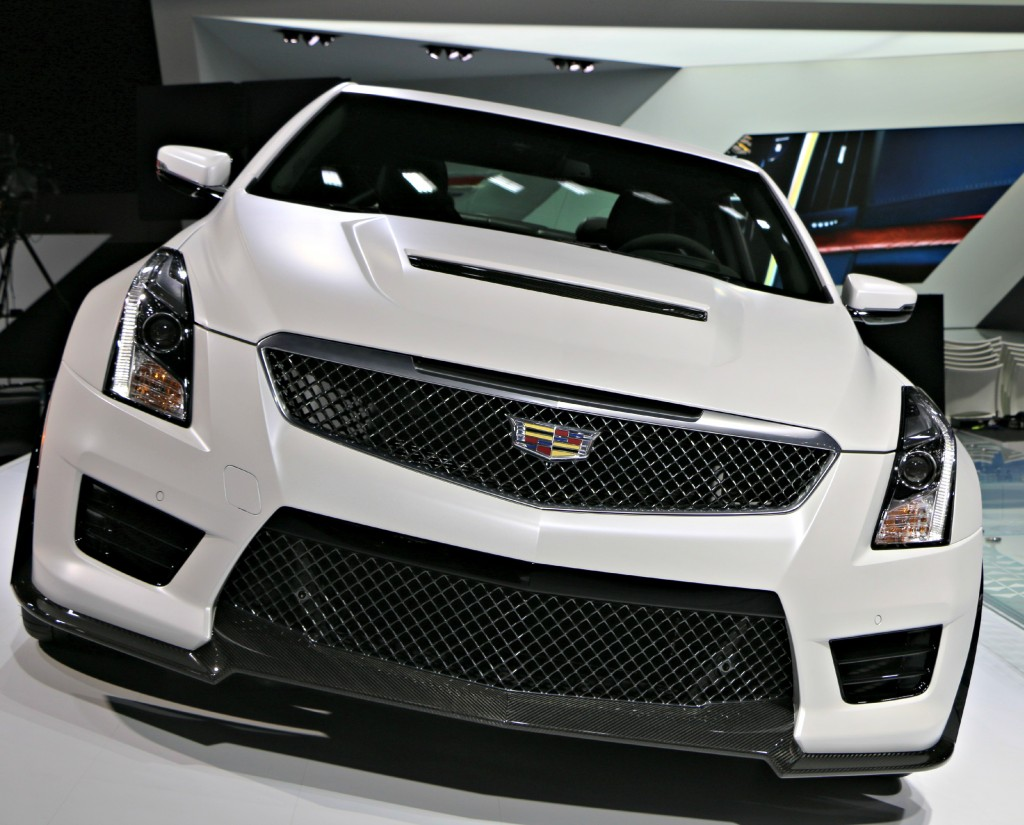 The new Cadillac ATS-V has an itegrated splitter / air dam