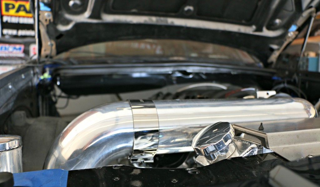 The Spectre Performance cold-air intake parts assembled also have the necessary hood clearance.